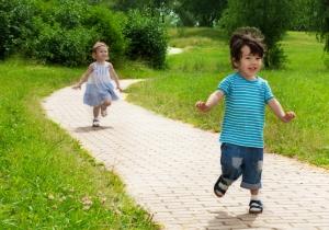 Children love to move